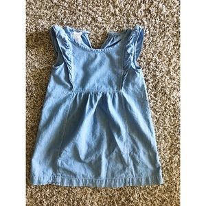 Crewcuts chambray girls dress